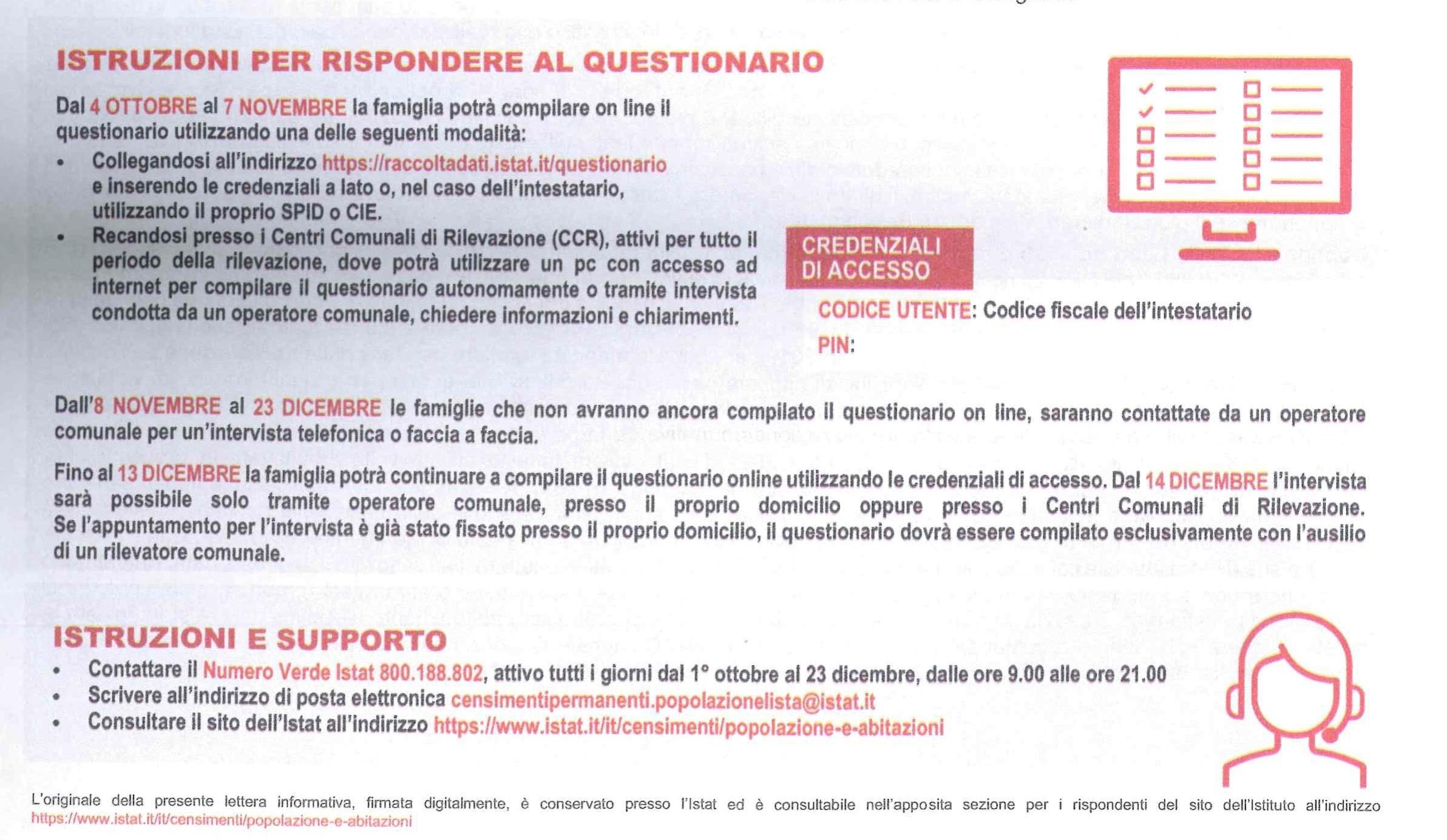 lettera censimento